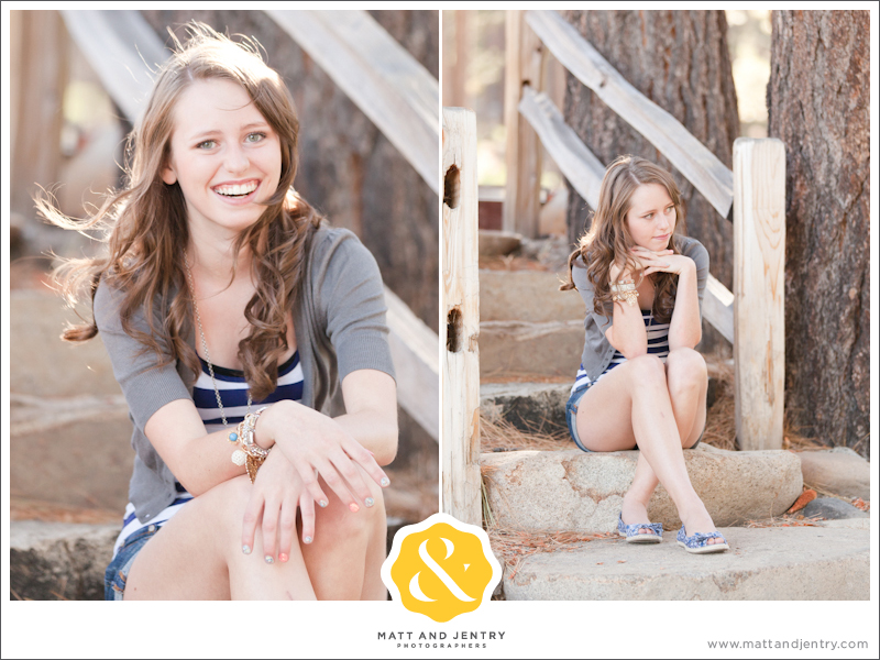 Teen Portrait at Galena Creek Park - girl on stone steps