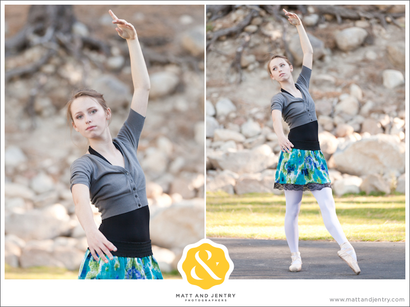 Teen Portrait at Galena Creek Park - girl doing ballet