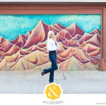Downtown Reno Teen Portrait - young woman posing in front of mural