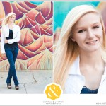 Downtown Reno Teen Portrait - young woman standing in front of mural