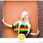 Downtown Reno Teen Portrait - young woman modeling in front of brick building