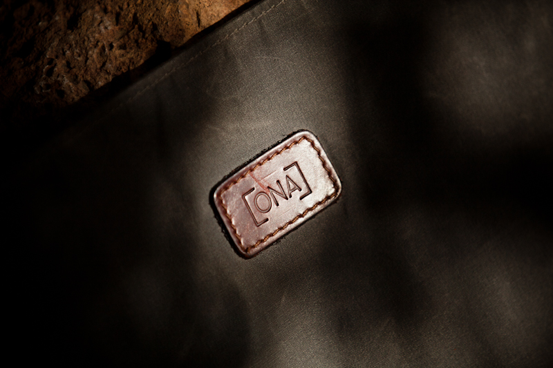 ONA Union Street Logo stitched to the inside flap of the bag