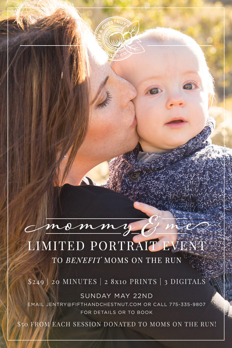 Reno Mother's Day Photos | 2016 Mommy & Me Portraits to Benefit Moms on the Run