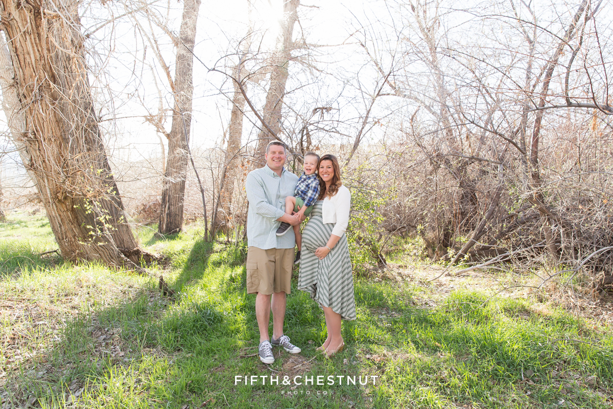 Reno Maternity Photos at the Oxbow by Reno Maternity Photographer