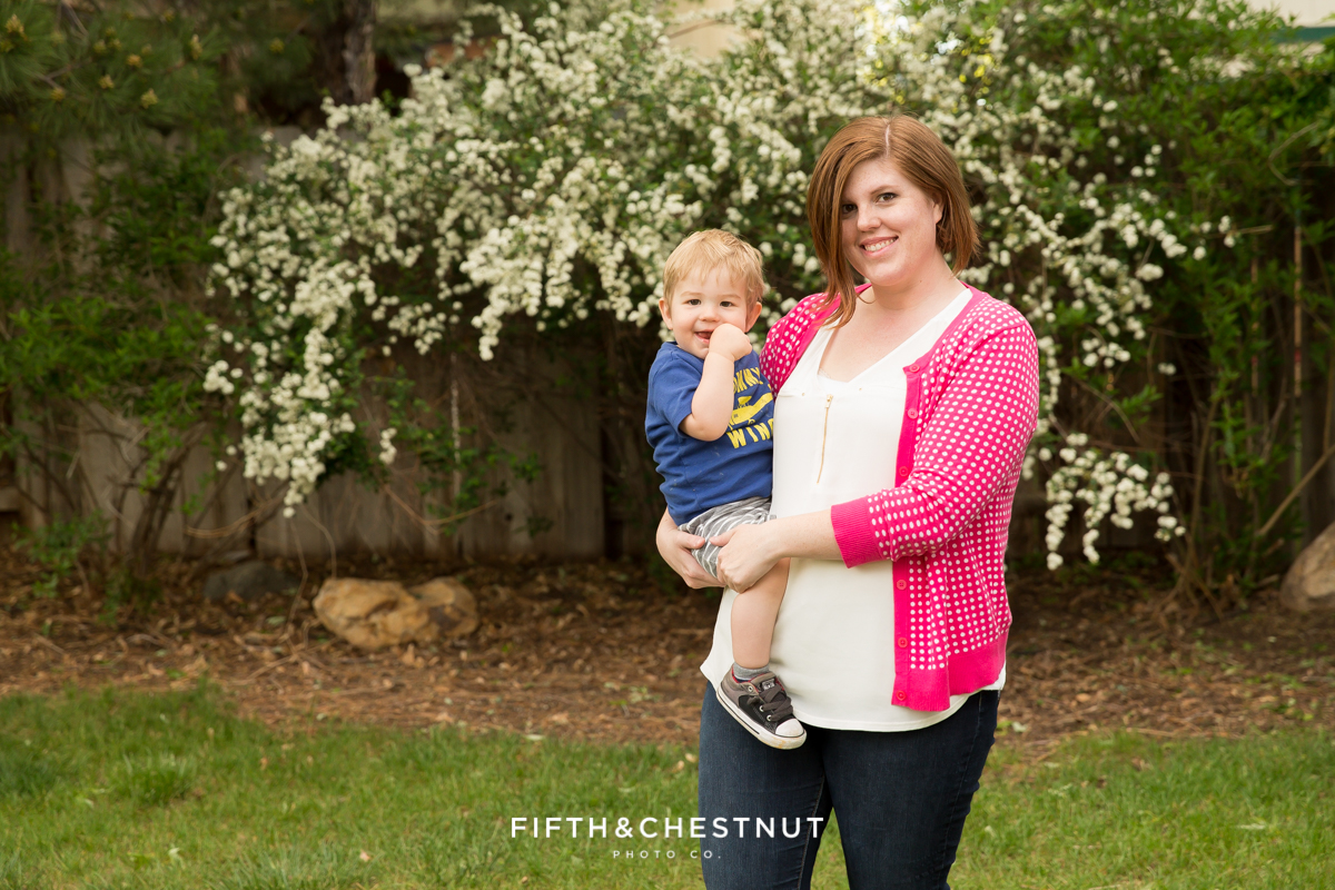 Photo of Mom and Baby for a Mommy and Me Portrait by Reno Family Photographer