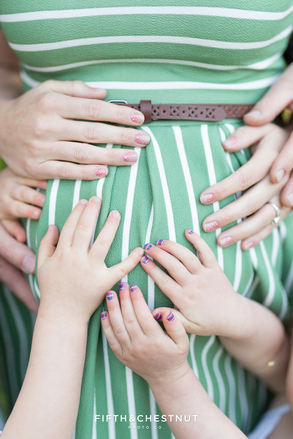 All hands on baby! maternity photography in reno