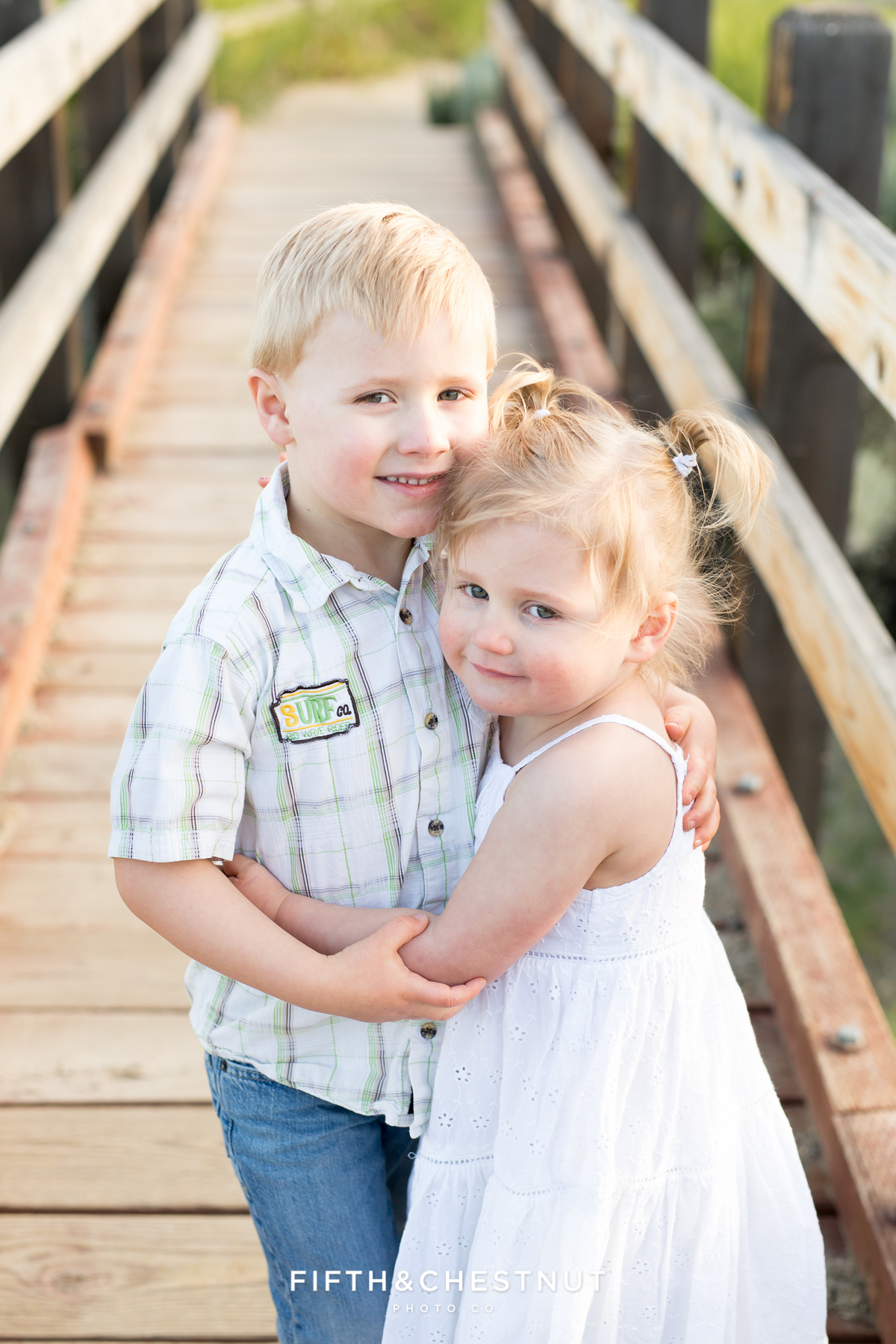 Sweet brother and sister photo during a reno maternity photo session by Reno maternity photographer