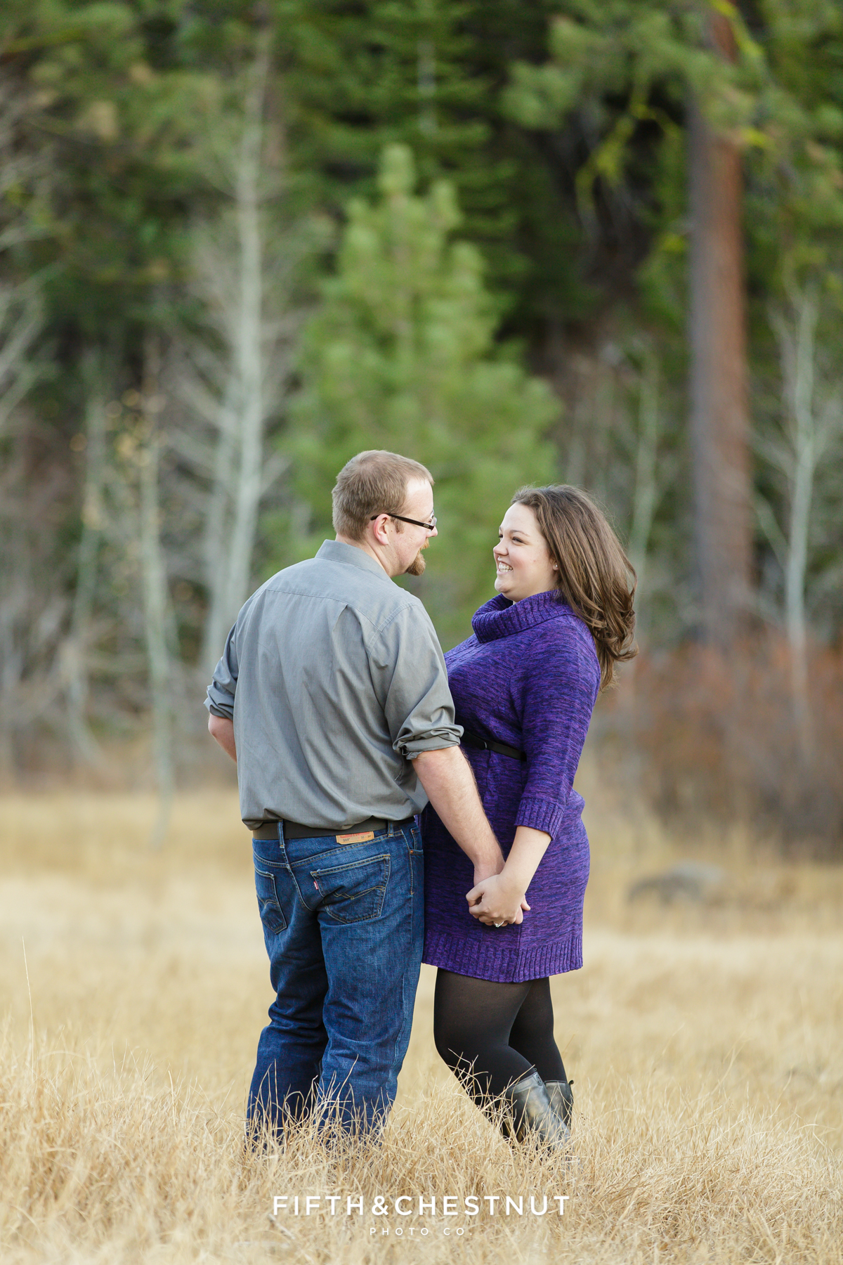 Martis Peak Meadows Portraits by Lake Tahoe Wedding Photographer