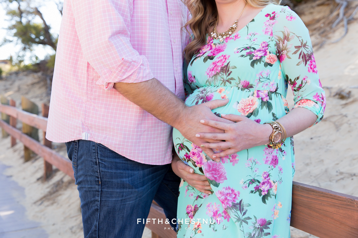 Sand Harbor portraits of a lovely pregnant woman in Spring by Reno Maternity Photographer