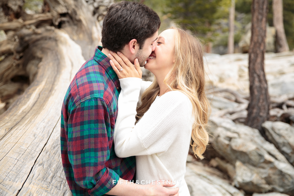 Lake Tahoe proposa photos with Eagle Falls Portraits by Lake Tahoe Wedding Photographer