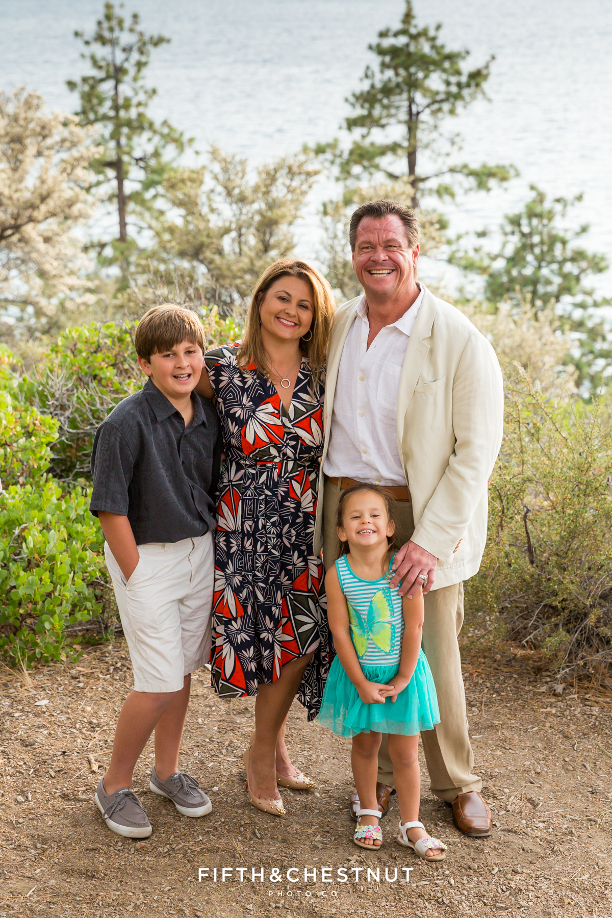 50th Anniversary and Family Photos at Logan Shoals Vista Point by Lake Tahoe Family Photographer