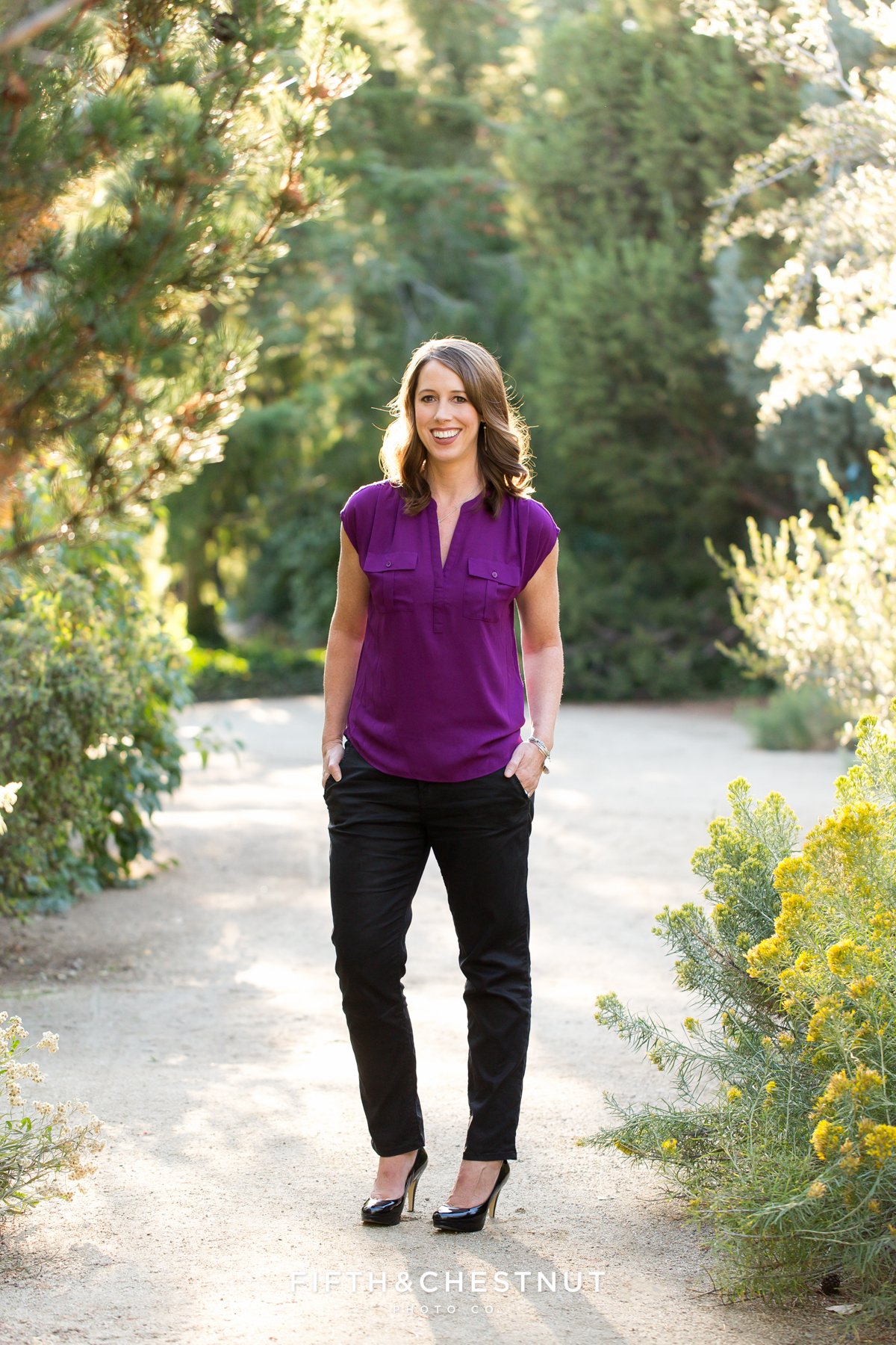 Outdoor headshots of Tracy by Reno Headshot Photographer at Rancho San Rafael