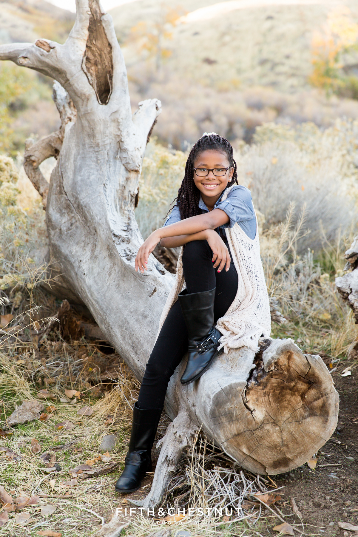 Beautiful fall family portraits at Mayberry Park in Reno by Reno Family Photographer