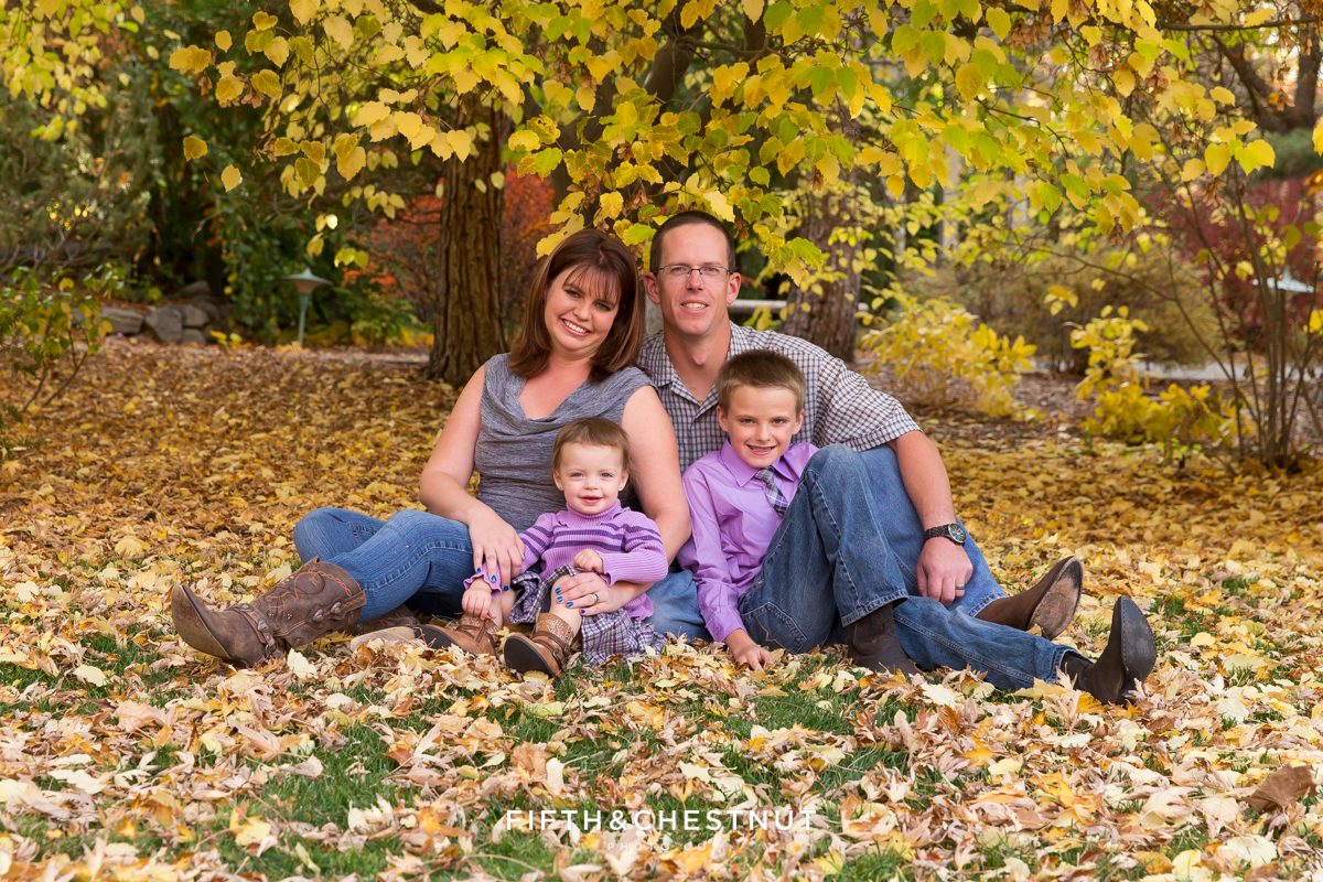 Fall Family Portraits by Reno Family Photographer at Rancho San Rafael
