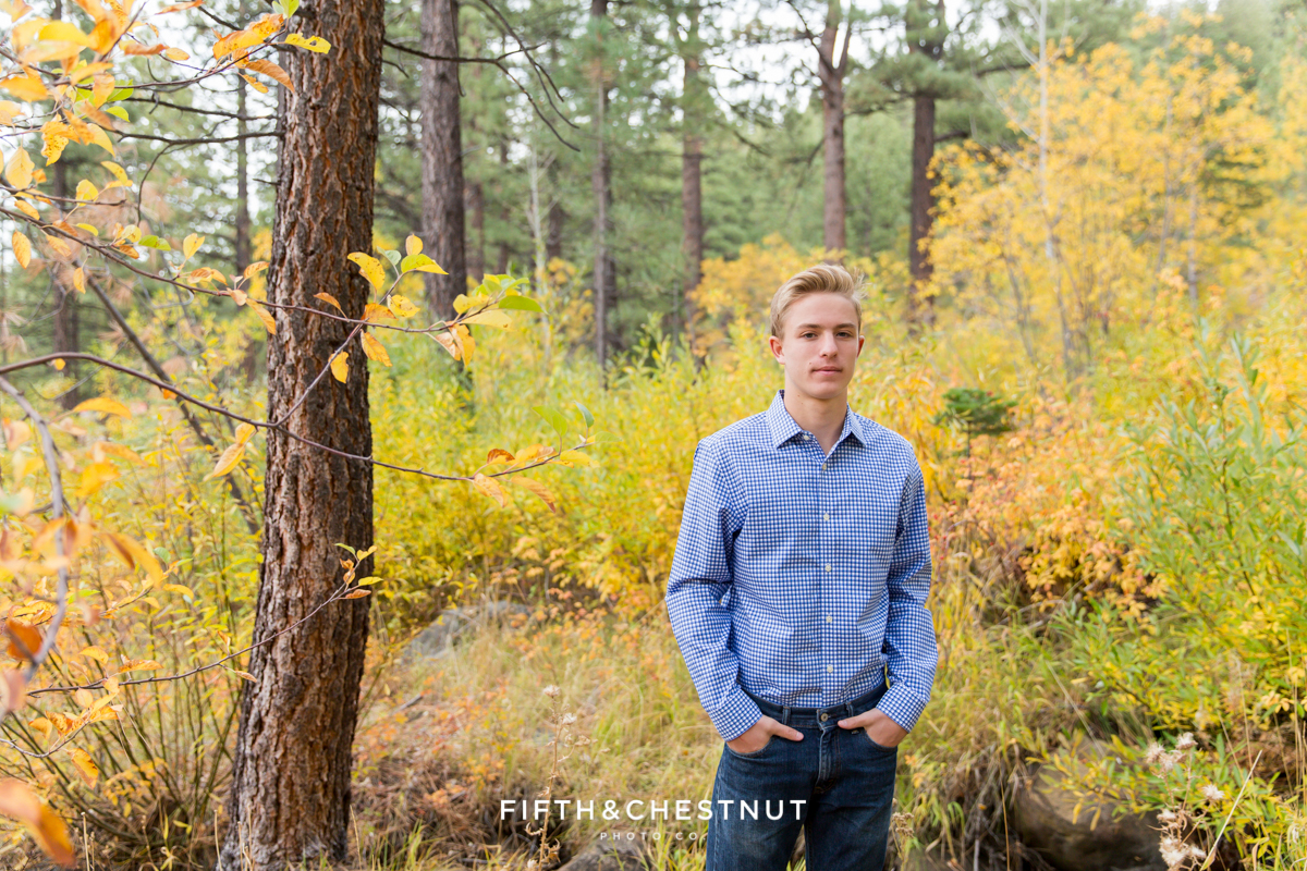 Fall Reno Senior Portraits by Reno Senior Photographer