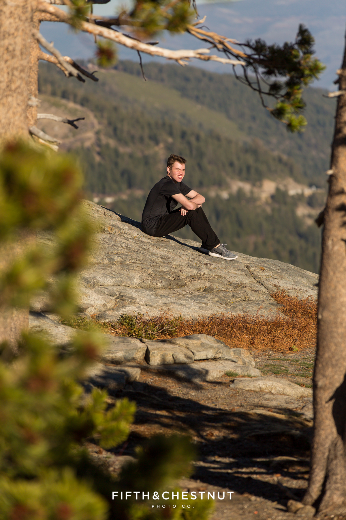 Reno High School Senior Portraits at Donner Lake with Reno High School Portrait Photographer