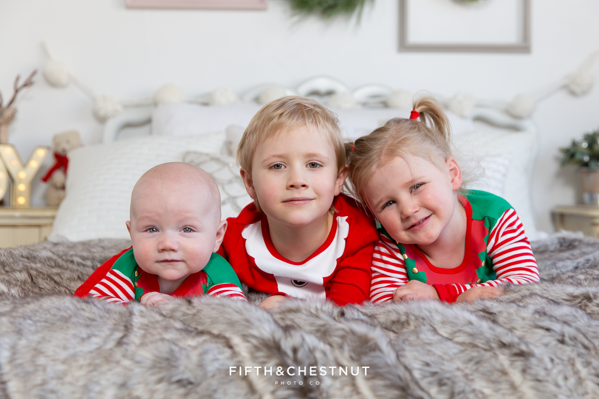 Reno Holiday Pajama Portraits of the Hume Kids by Reno Child Photographer