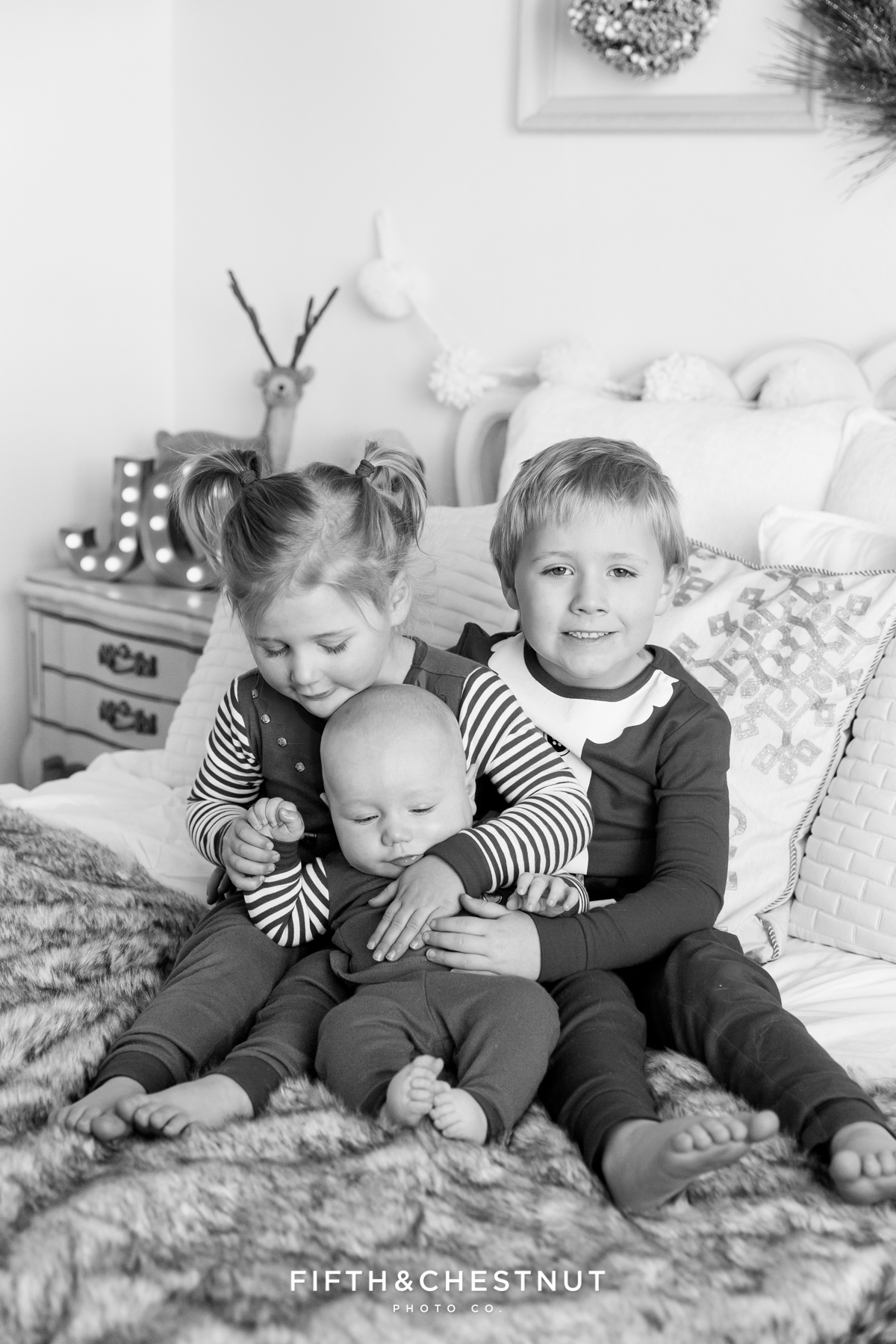 Reno Holiday Pajama Portraits of the Hume Kids by Reno Child Photographerv