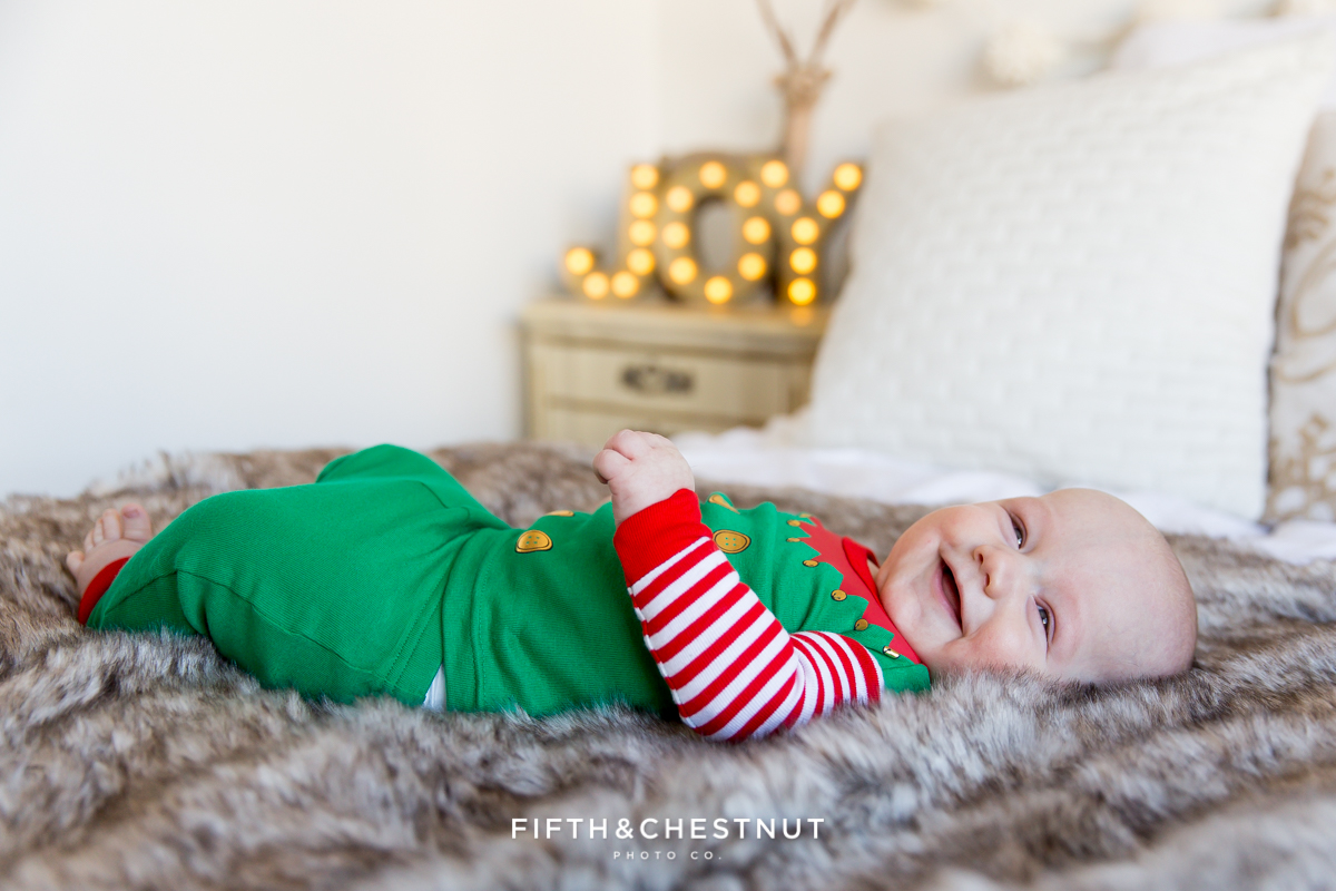 Holiday Pajama Portraits of the Hume Kids by Reno Child Photographer