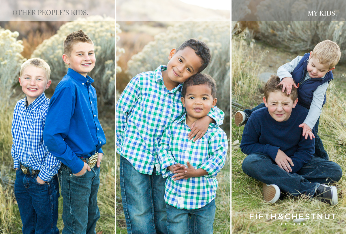 Reno Child Portraits comparison of other kids to my kids by Reno Portrait Photographer