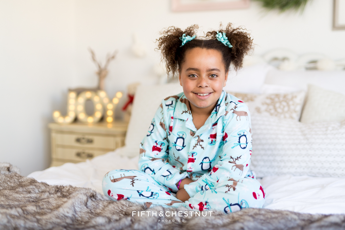 Reno Holiday Pajama Portraits of Camdyn by Reno Portrait Photographer