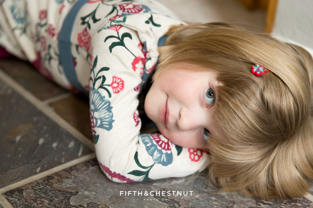 Portrait of little girl by Reno Family Photographer