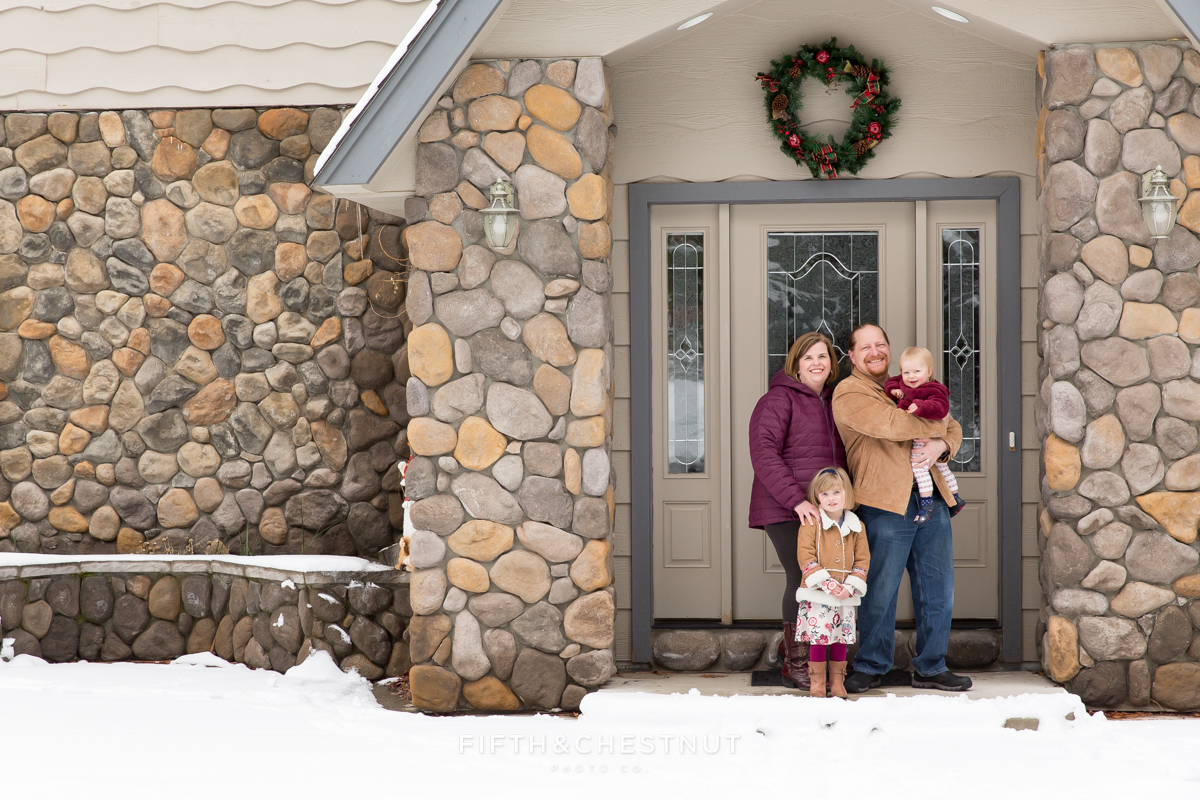 Winter Family Portraits in Verdi by Reno Family Photographer