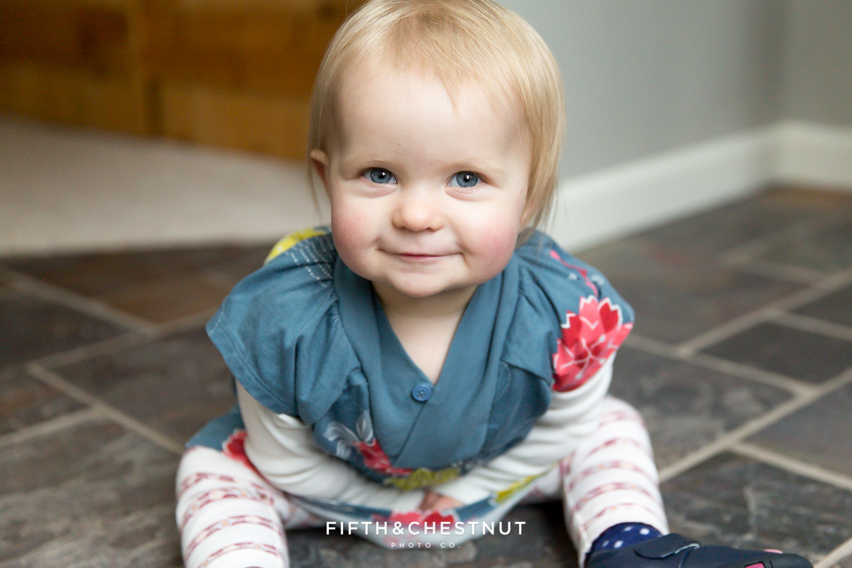 Portrait of toddler by Reno Family Photographer