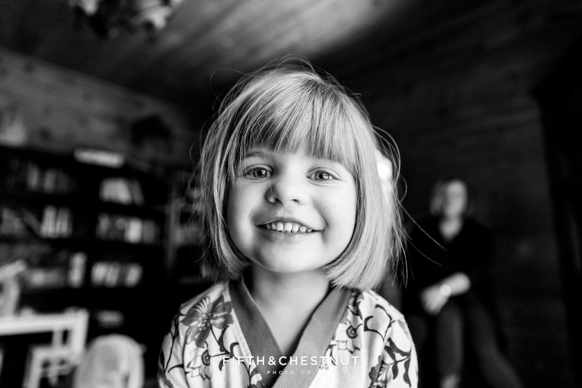 Candid portrait of little girl by Reno Family Photographer