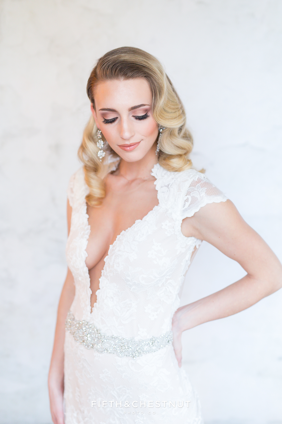 2017 La Di Da Bridal Workshop photography by Tahoe Wedding Photographer Fifth and Chestnut with model in wedding dress provided by Swoon Bridal