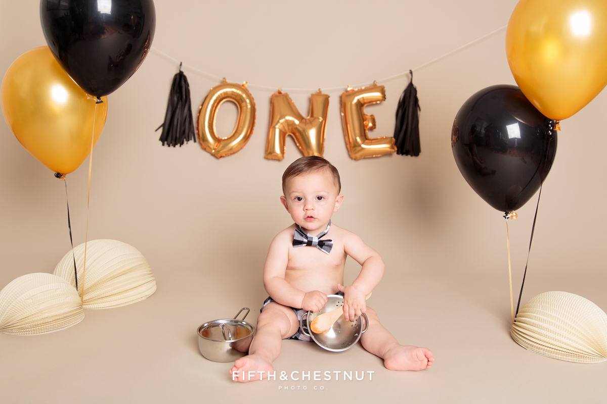 Cute baby portrait of toddler for his one year spaghetti smash toddler portraits