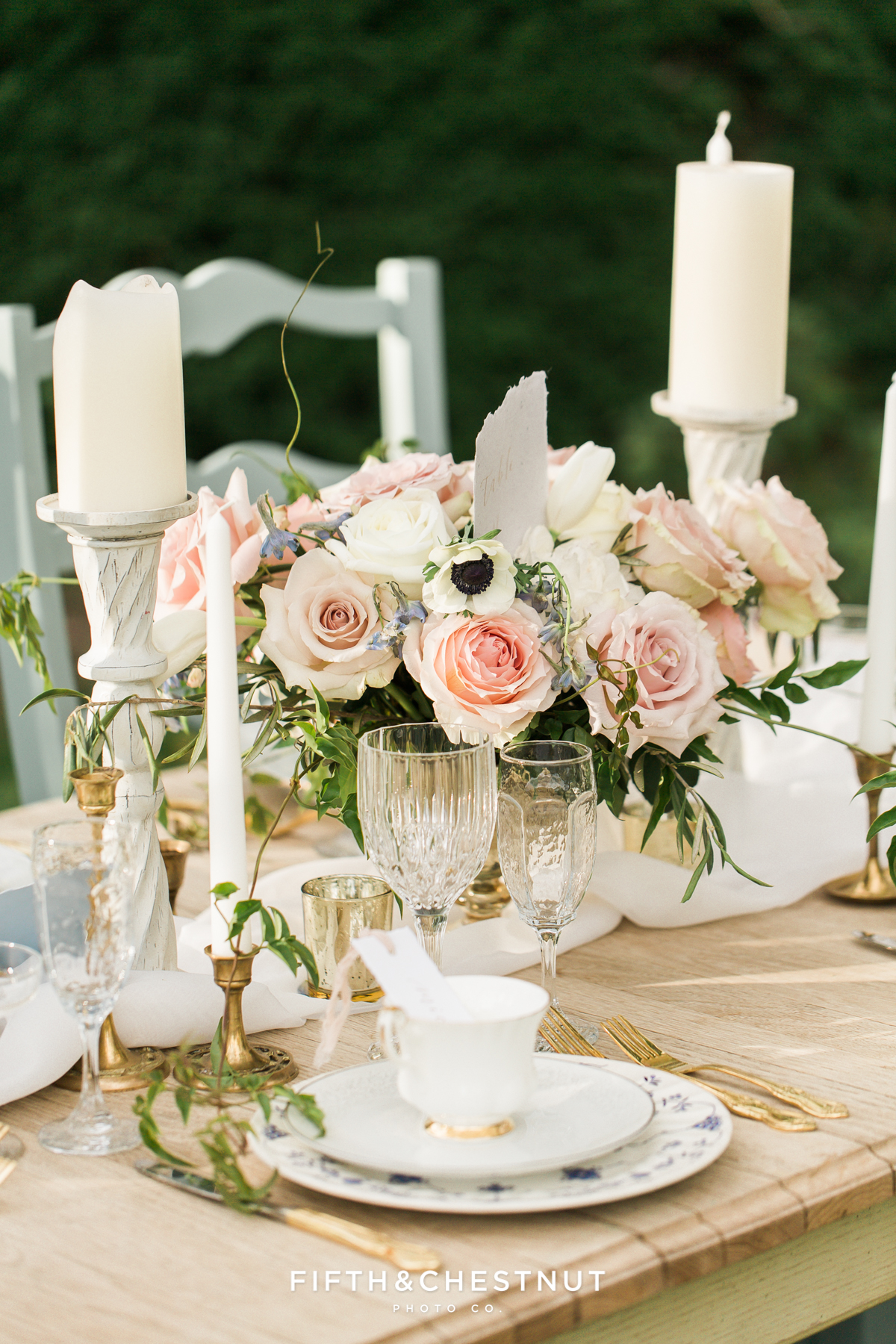Country french inspired wedding centerpiece by Aster and Ash for a Private Estate styled shoot