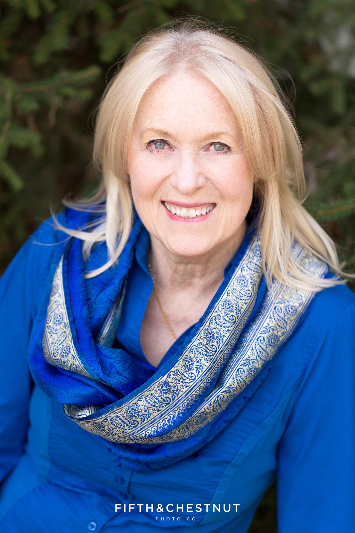 Beautiful Author headshot by Reno Headshot Photographer