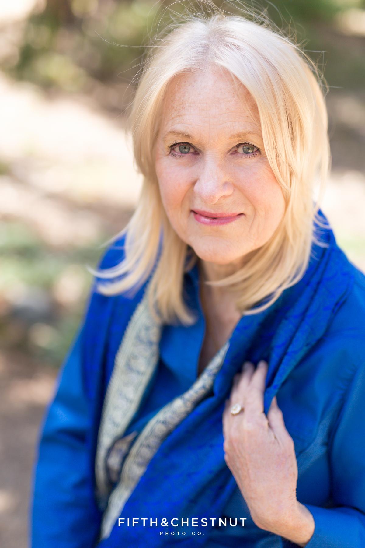 Portrait of published author by Reno Headshot photographer