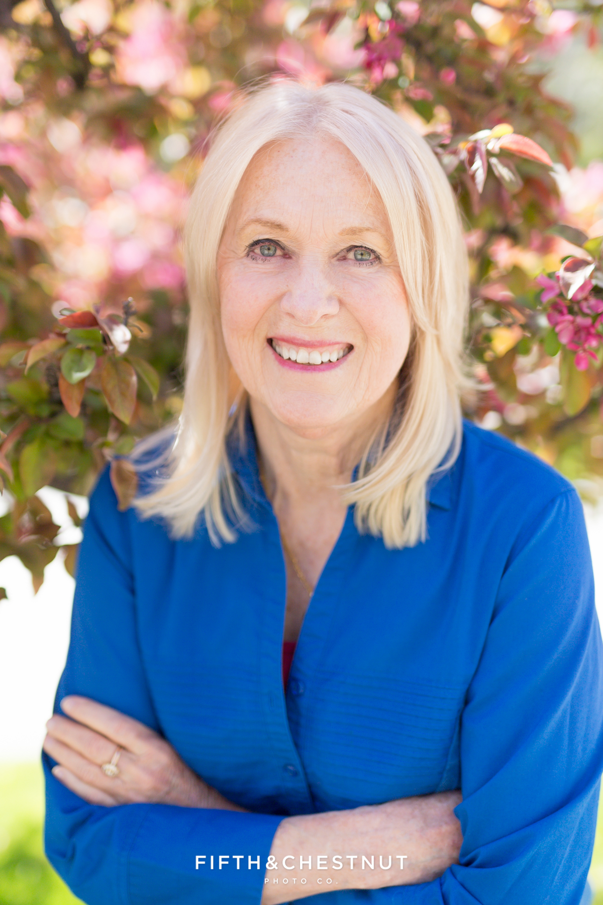 Spring headshot portrait of published Author by Reno Headshot Photographer