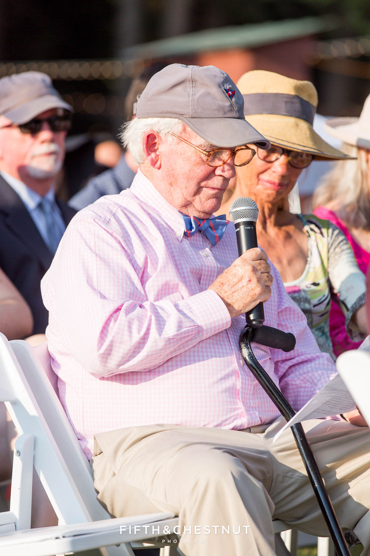 an uncle gives a statement during a Greenhorn Creek Guest Ranch Wedding ceremony