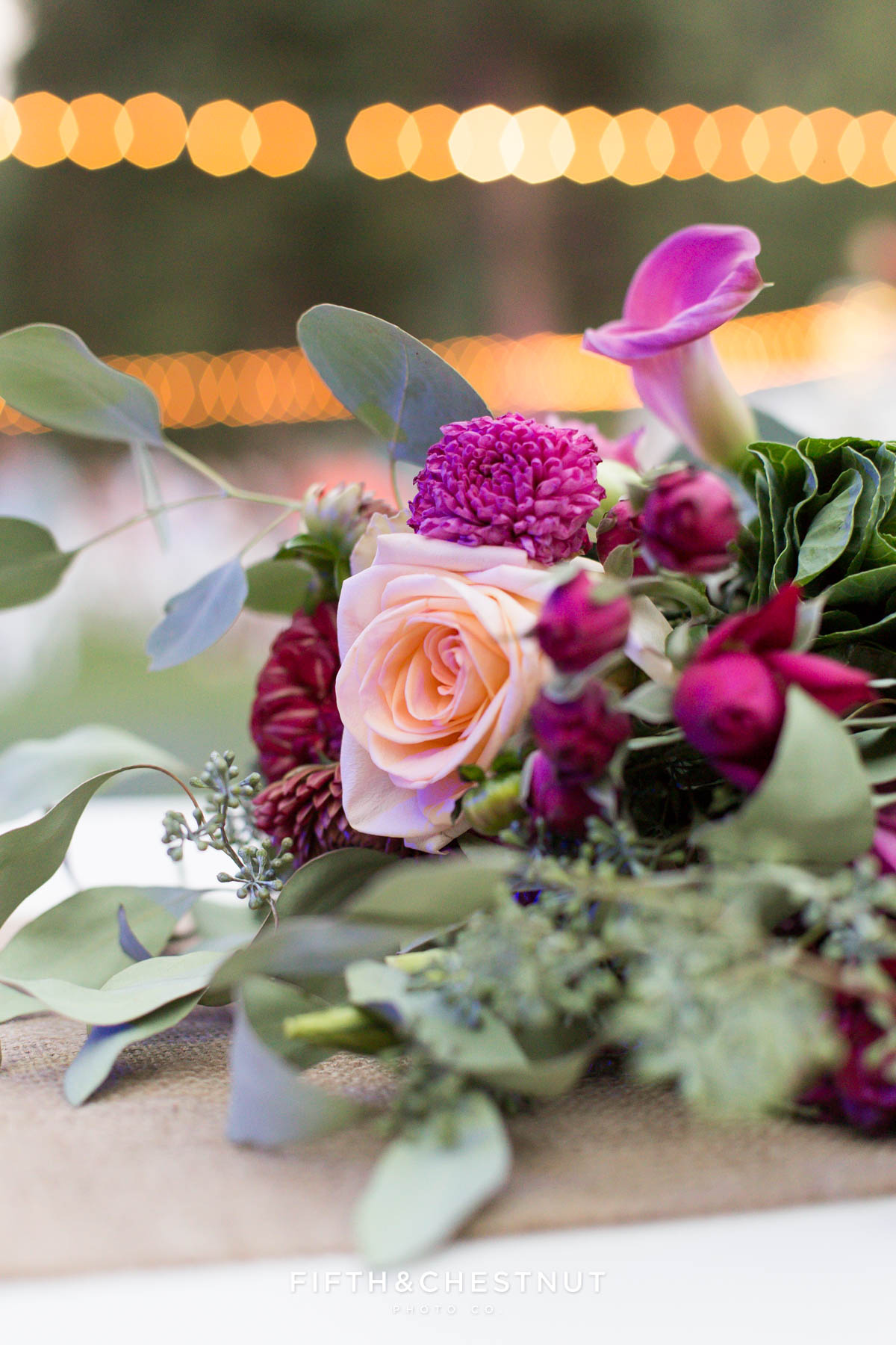 wedding bouquet detail at a Greenhorn Creek Guest Ranch Wedding