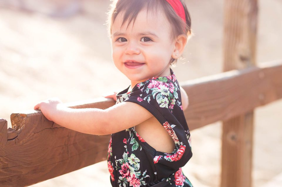 Saoirse's Fashionable One Year Portraits by Reno Child Photographer