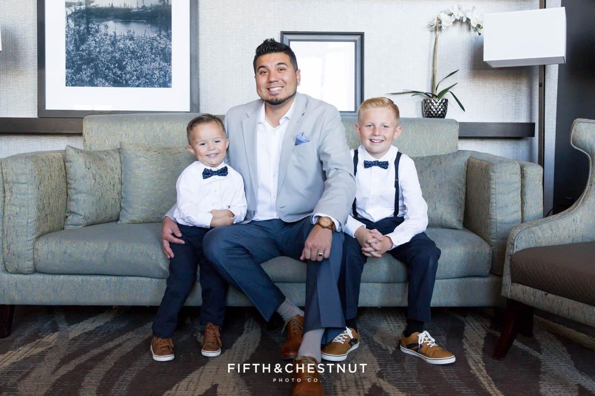 Elegant Reno Family Portraits by Reno Family Photographer at Reno Hotel
