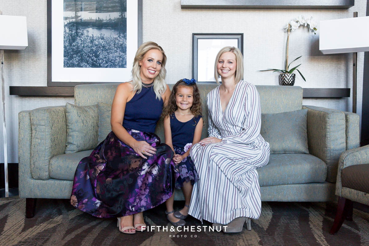 Elegant Reno Family Portraits by Reno Family Photographer at Reno Hotel