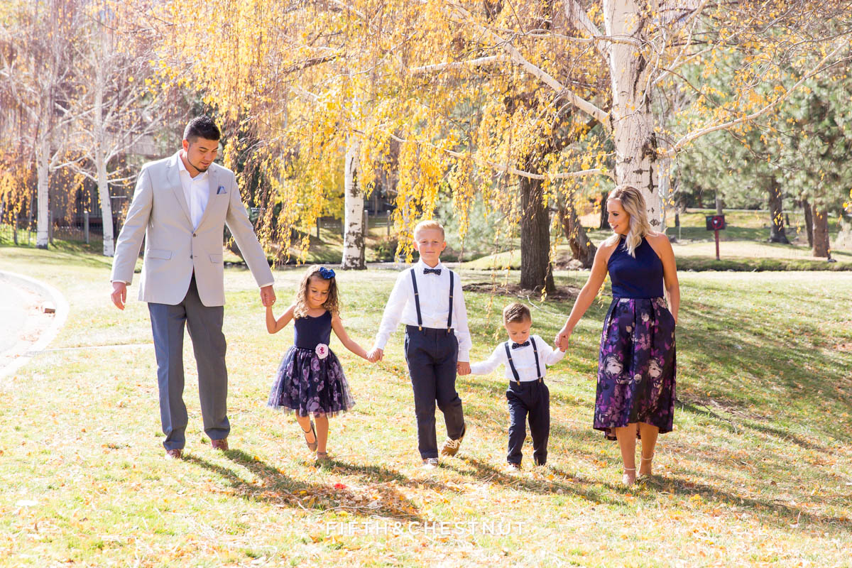Elegant Reno Family Portraits by Reno Family Photographer at Caughlin Ranch Ponds