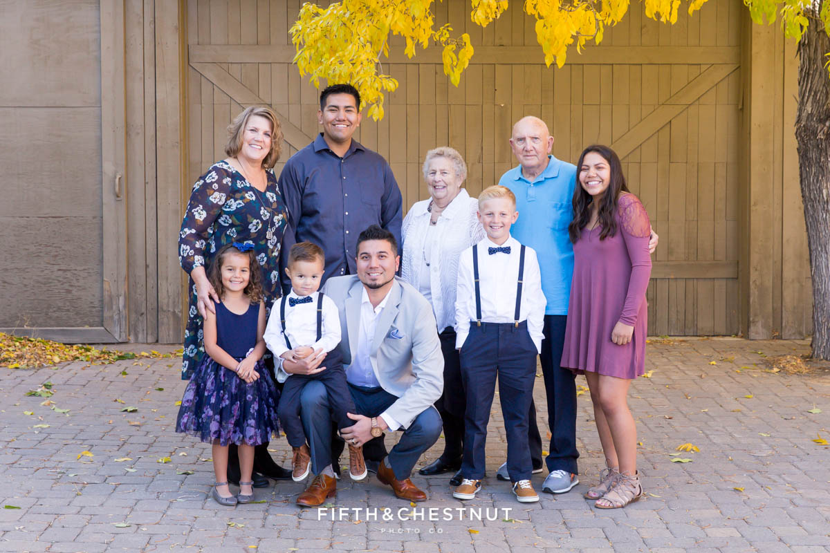 Extended family portrait in Virginia City, NV by Virginia City Photographer