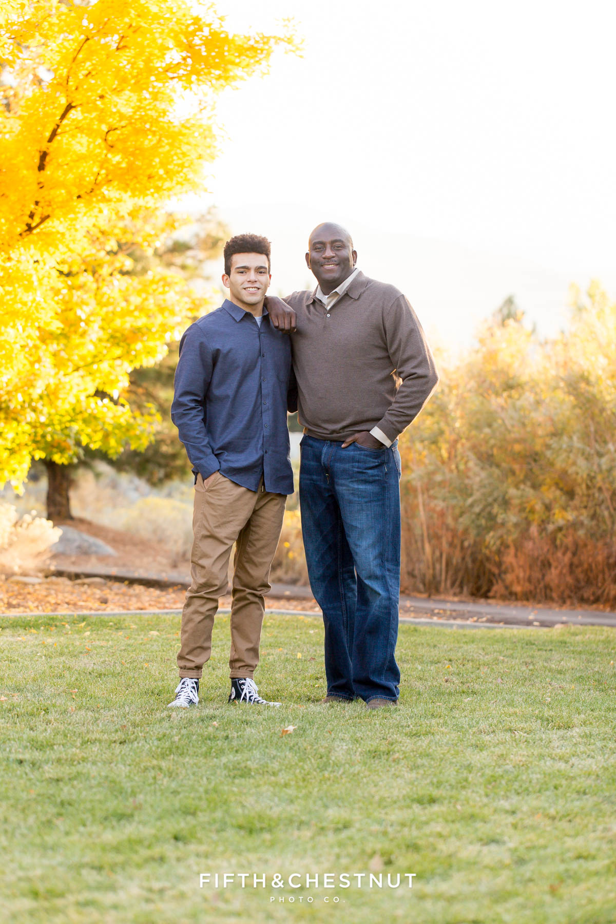 Father and son family portrait in northwest reno by reno family photographer