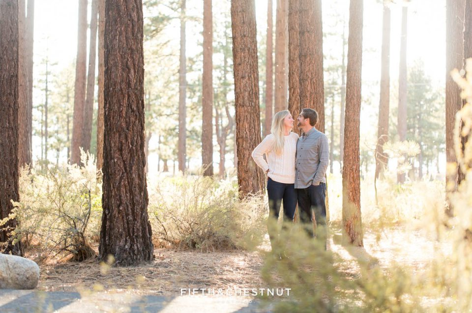 Sunny Fall Nevada Beach Engagement by Lake Tahoe Wedding Photographer