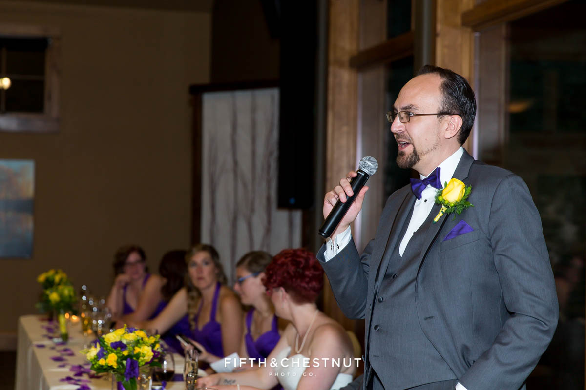 best man toasts bride and groom