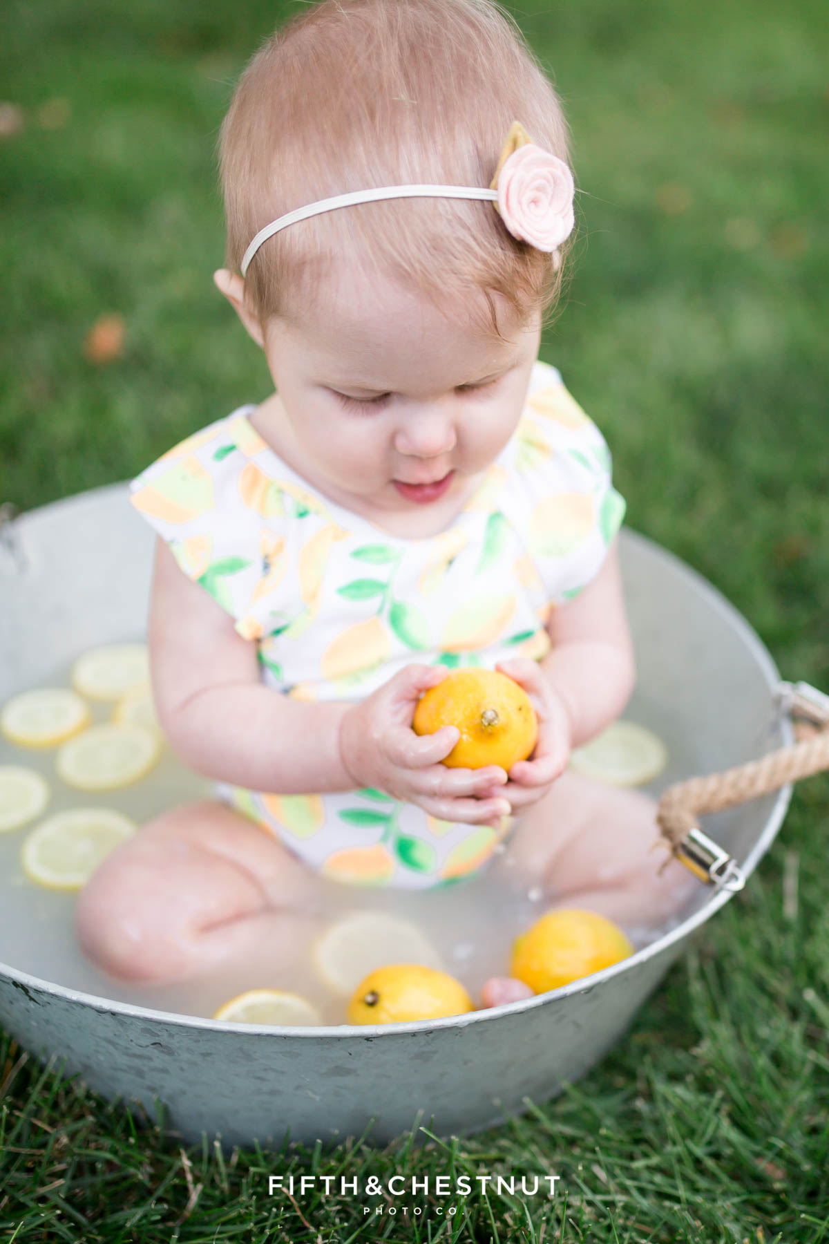 Summer Farmer and Milk Bath Baby Photos by Reno Baby Photographer