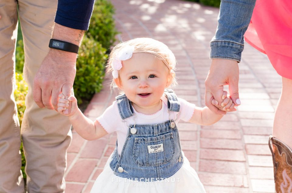 Rustic Spring Baby Girl One Year Portraits by Reno Baby Photographer