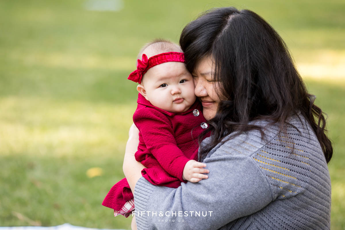Adorable 6 Month Baby Portraits at UNR by Reno Baby Photographer
