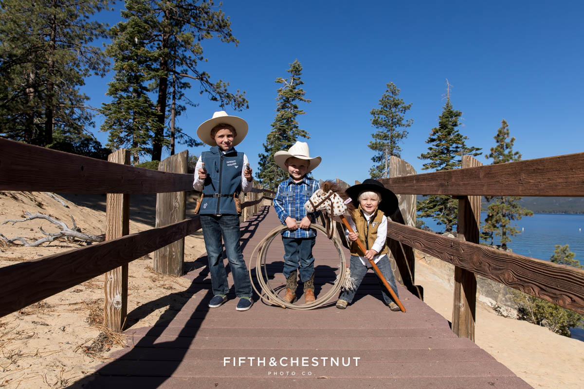 Western Fall Lake Tahoe Family Portraits at Sand Harbor by Reno Family Photographer