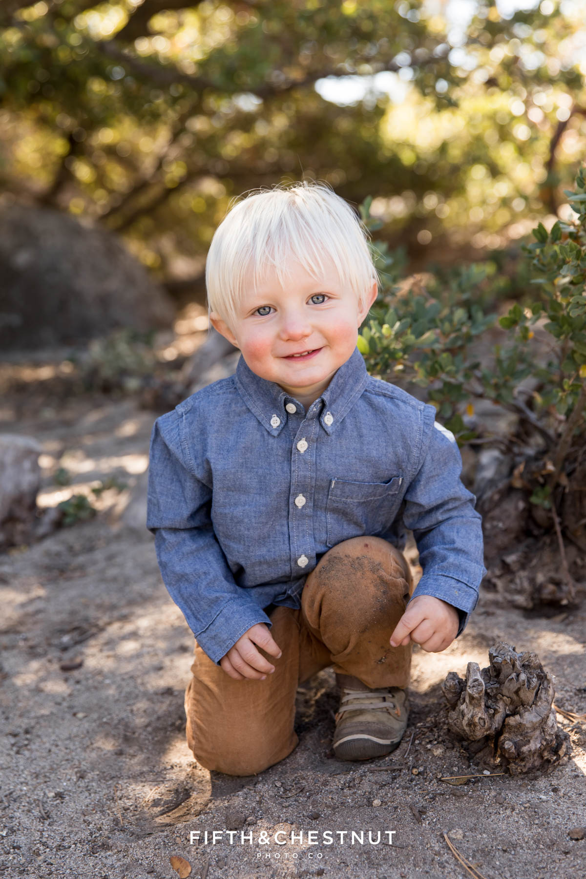 Western Fall Family Portraits at Sand Harbor by Reno Family Photographer